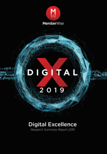 Digital Excellence 2019 Survey Summary Report